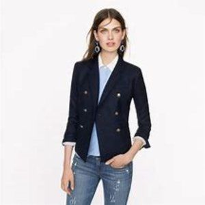 J.Crew  Women's Blue Double-breasted Ivy Blazer